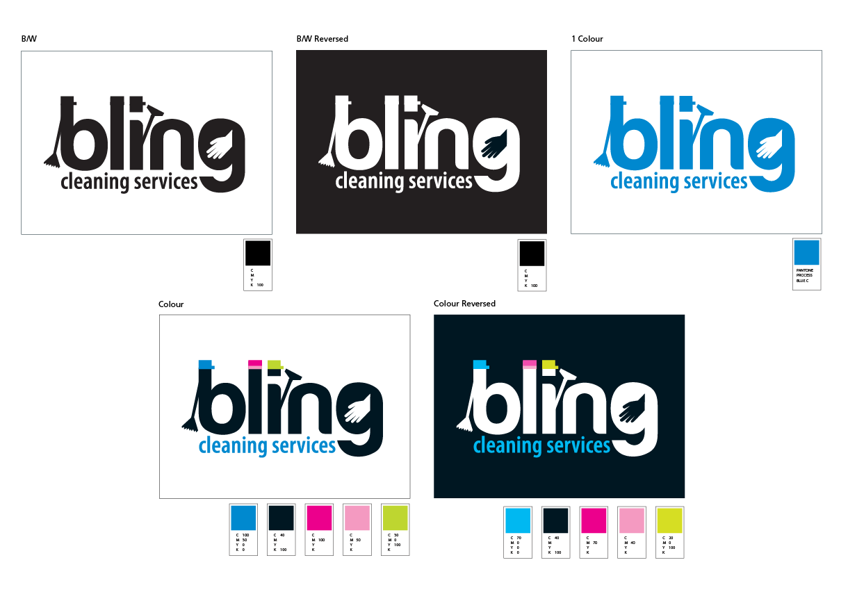 Bling Cleaning logo information