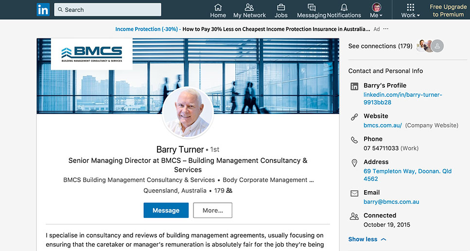 linkedin branded profile for business
