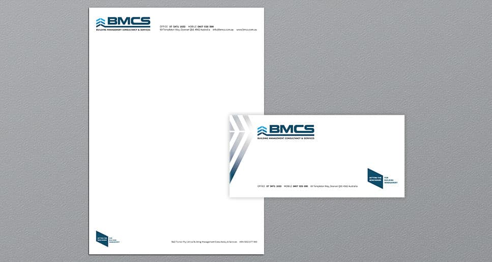 building management stationery design
