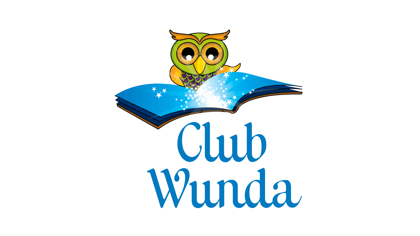 club wunda illustrated logo design