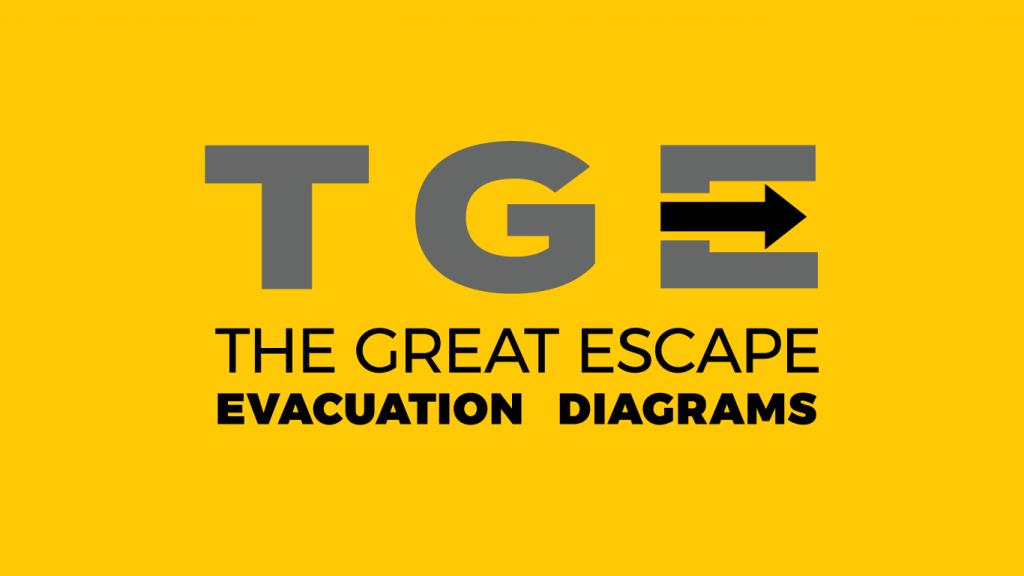 The Great Escape Evacuation Diagrams logo design
