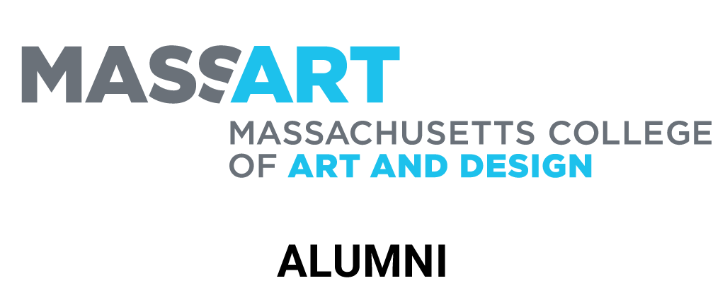 Massachussets College of Art and Design blue logo