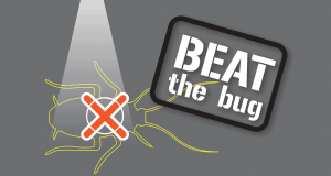 Pest Control Beat the Bug branded graphic