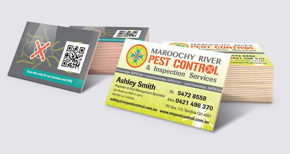 Pest Control Maroochy River branded cards