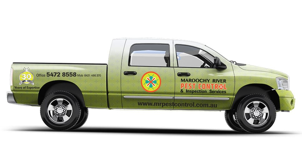 pest control branded sign vehicle