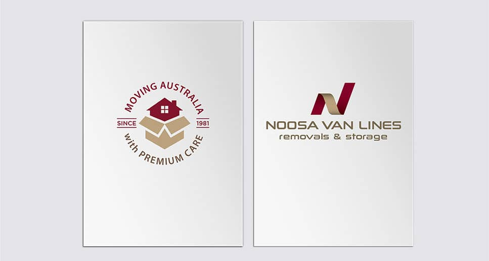 logo and branded graphic noosa van lines