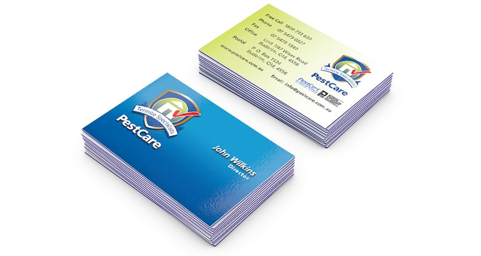 pest control business card design