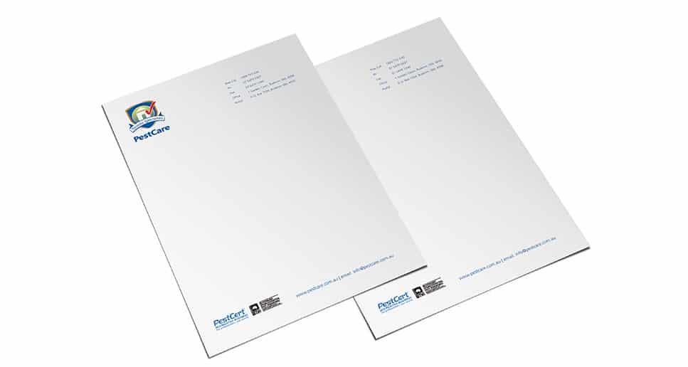 pest control letterheads design