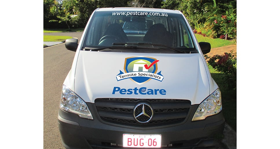 Pest control branded vehicle design