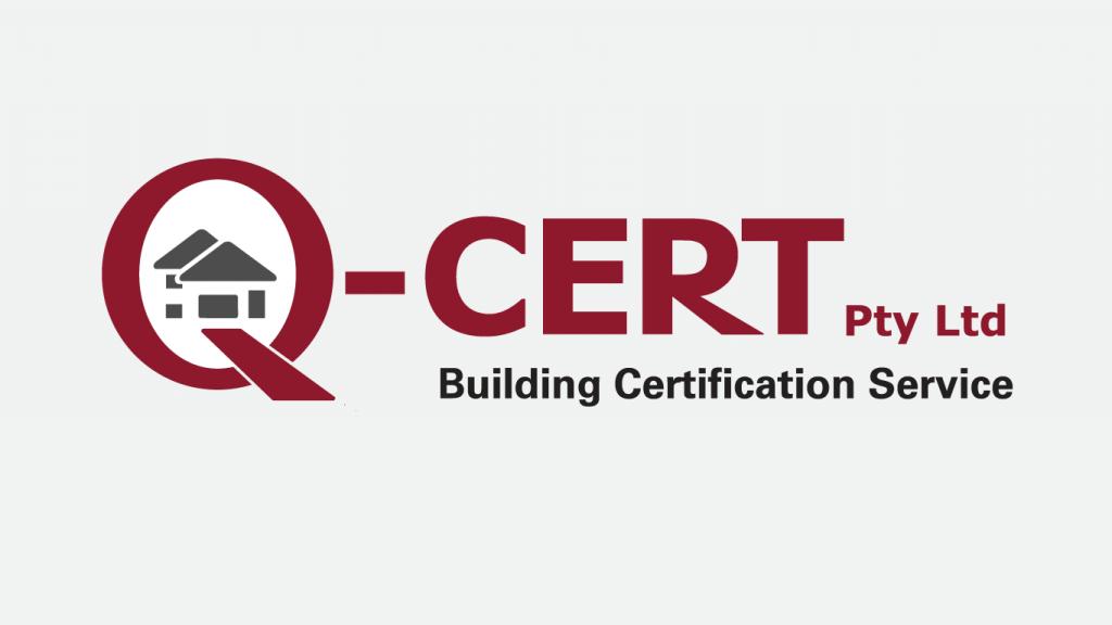 QCert Building Certification Service logo design