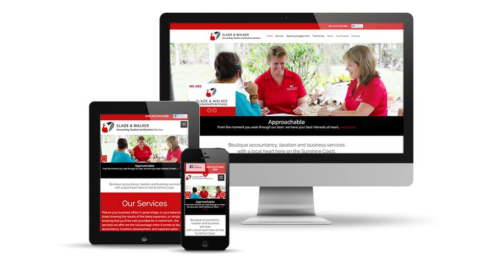 accountants cooroy branded website screens
