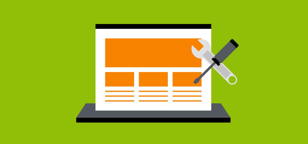 website repair graphic