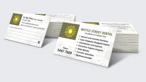 Dental practice business card design