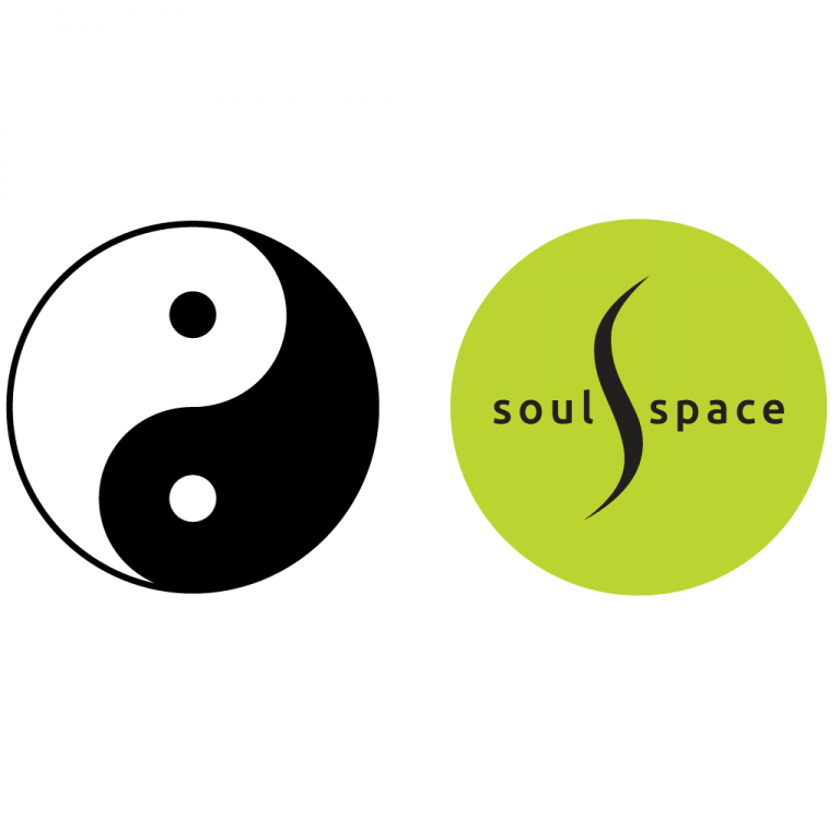 ying yang symbol and soul space logo