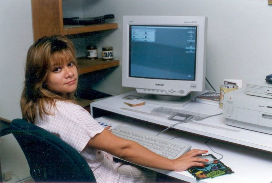 Taty Rivera Hindes working in San Salvador 1997